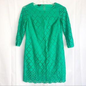 Talbots 3/4 Length Sleeve Green Career Dress (8)